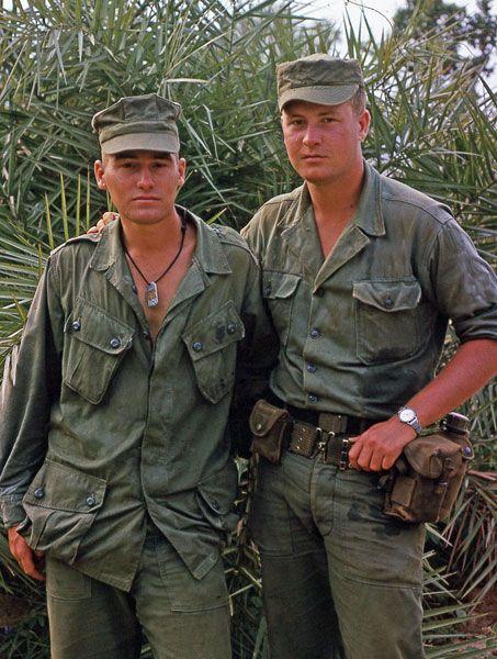 Dennis R. Decker Marine Left Jeff Daley Army Right